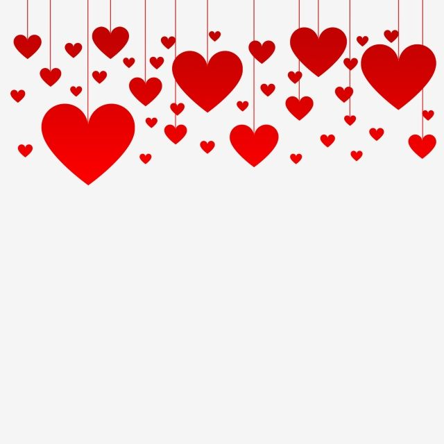 Valentines Red Hanging Hearts Border Psd Valentine Background Valentines Day Border Valentines Day Clipart