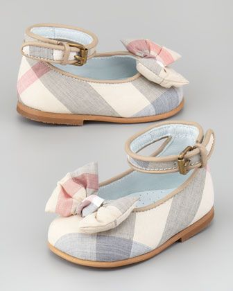 If I have a girl... Newborn Check Shoe - Neiman Marcus
