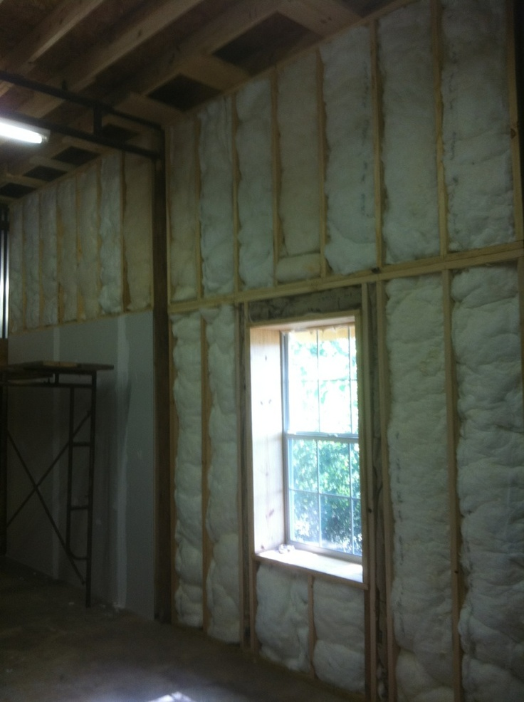 All exterior walls insulated with R30 insulation.
