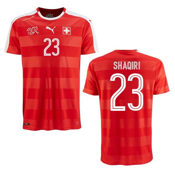 Xherdan Shaqiri 23 2018 FIFA World Cup Switzerland Home Soccer Jersey aa6dba6b8