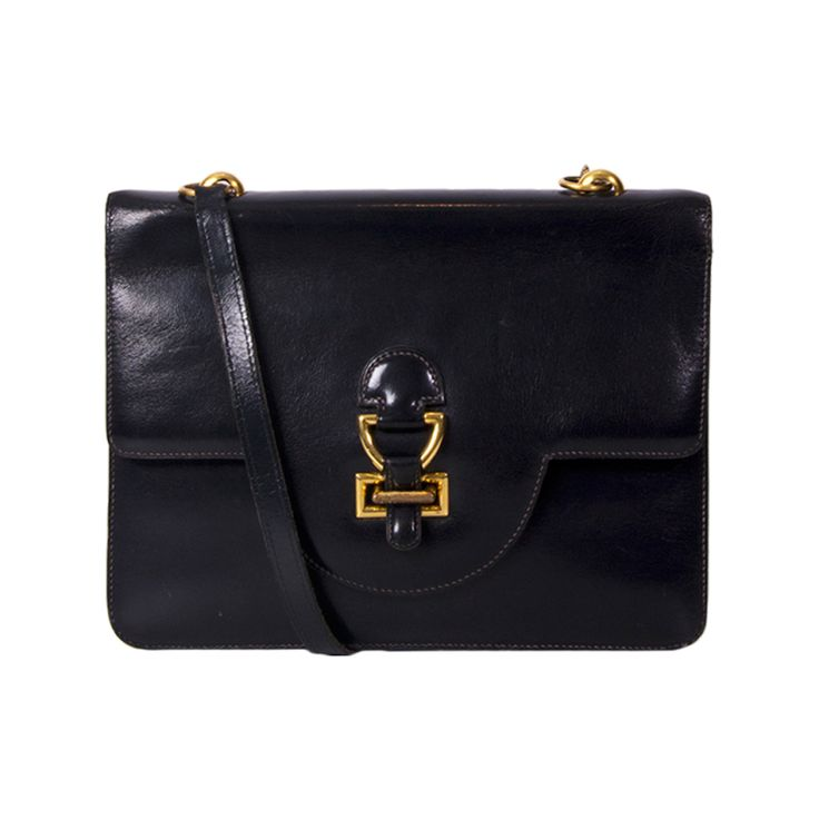 HERMES Sandrine Navy Shoulder Bag