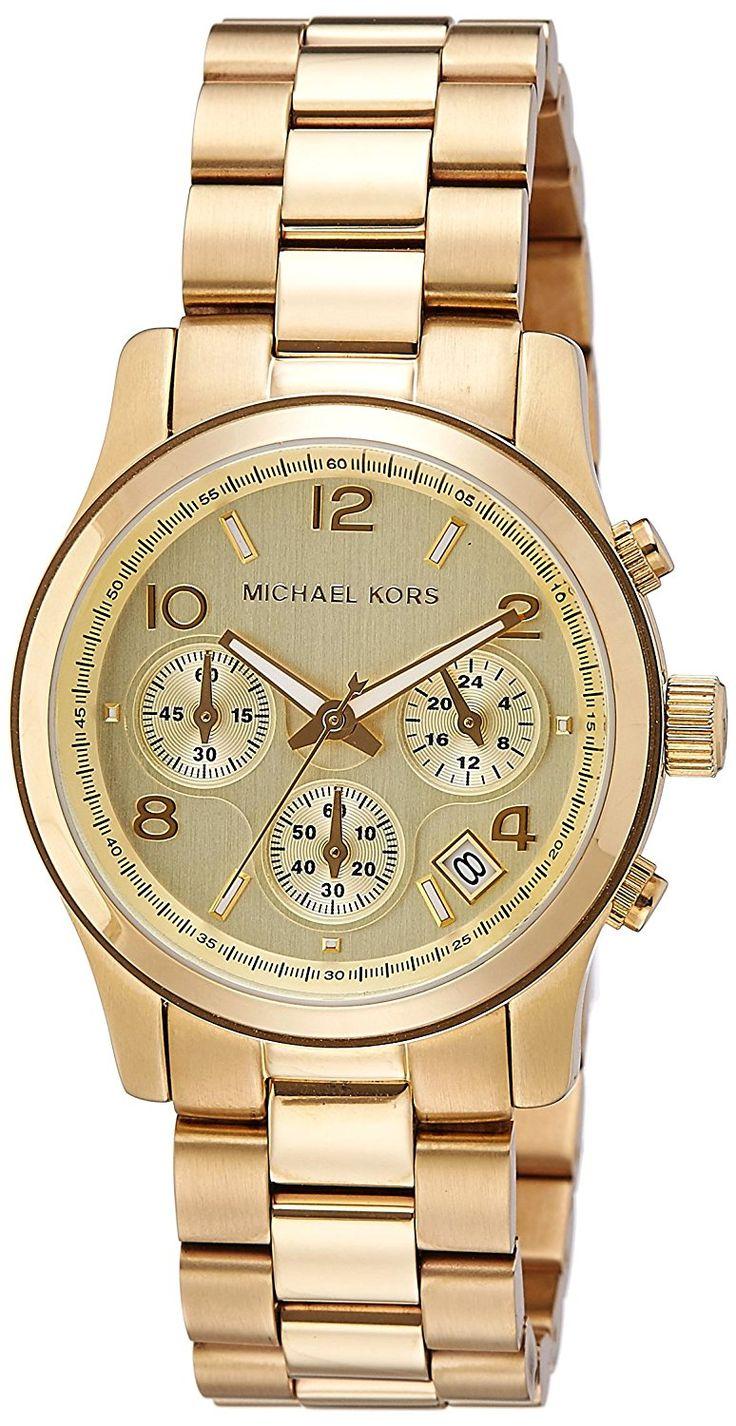 Michael Kors MK5055 - Reloj de cuarzo con correa de acero inoxidable para mujer, color dorado #relojes #michaelkors #panama
