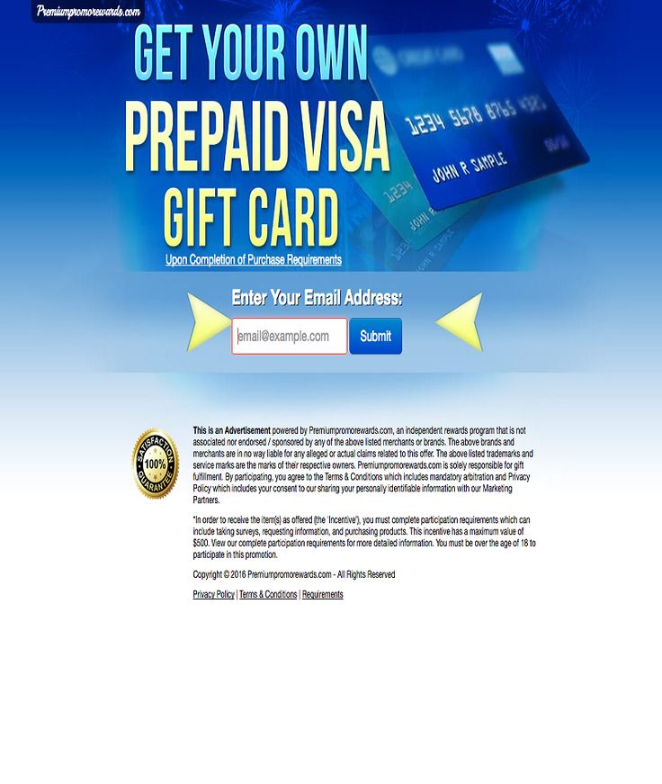 Get your own prepaid visa gift card visa gift card