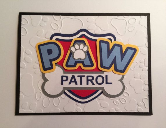 Handmade Paw Patrol Birthday Card by JuliesPaperCrafts on Etsy