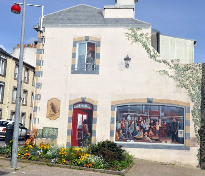 Street art mural la taverne rue anatole france 221 brest