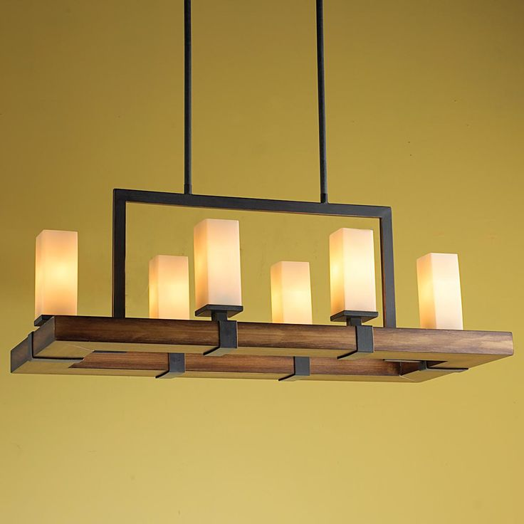 Craftsman Island Chandelier A Modernized Rustic Perfect For Your Kitchen Or Long Dining