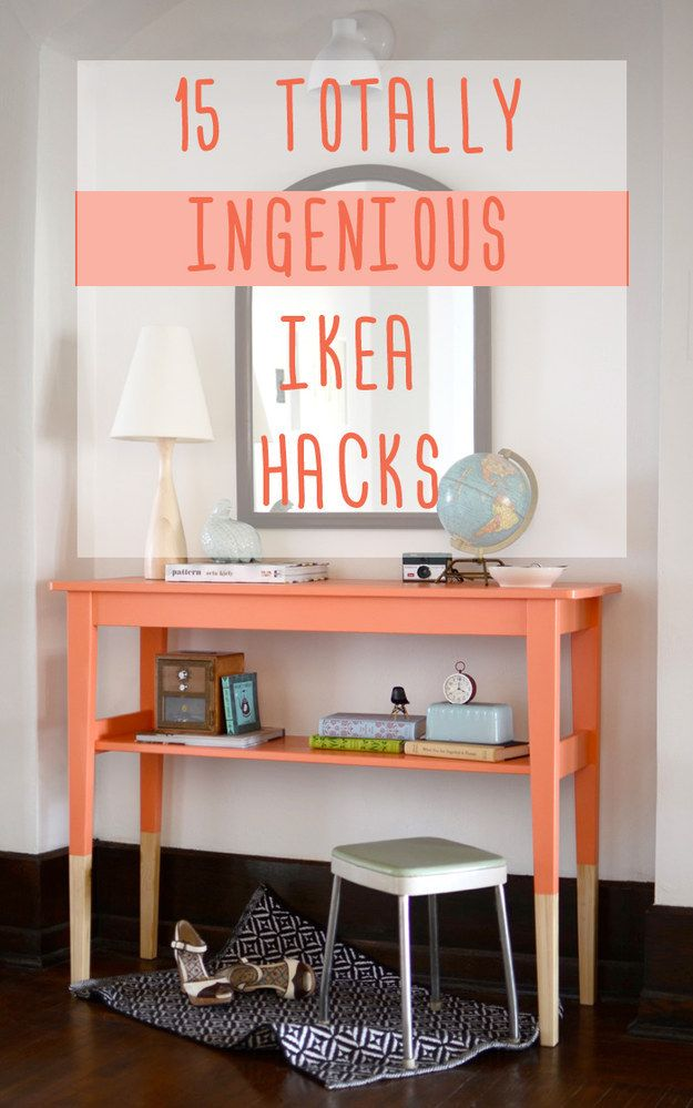 I mean somethings look completely different, but you get the gist. #ikea #whitepicketfence 15 Totally Ingenious IKEA Hacks