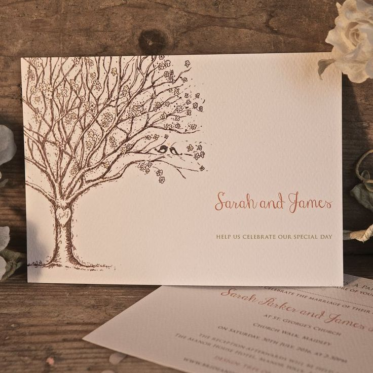 76 best Tree Wedding Invitations images on Pinterest | Recycled ...