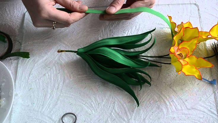 орхидея из фоамирана  сборка 2