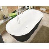"Found it at Wayfair - Little Key 70"" x 32"" Freestanding One Piece Soaking Bathtub with Center Drain"