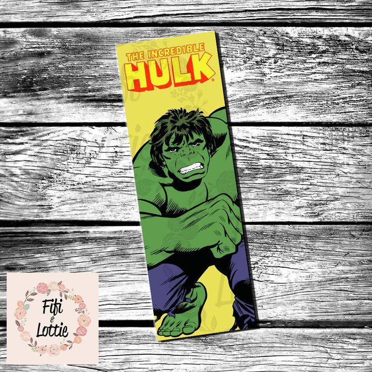 Incredibile Hulk segnalibro stampabile Download immediato di FifiLottieCreations su Etsy https://www.etsy.com/it/listing/474012300/incredibile-hulk-segnalibro-stampabile