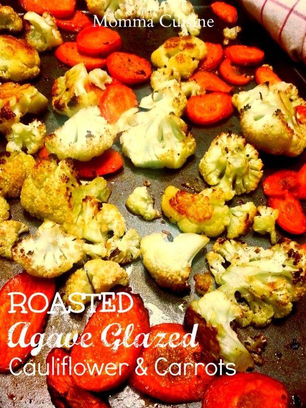 #Roasted Agave Glazed Cauliflower & Carrots #recipe by Momma Cuisine. #GlutenFree www.mommacuisine.com