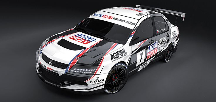Mitsubishi Lancer Evo IX (hill climb) - New 2015 design for driver Marek Rybníček from Liqui Moly Racing team