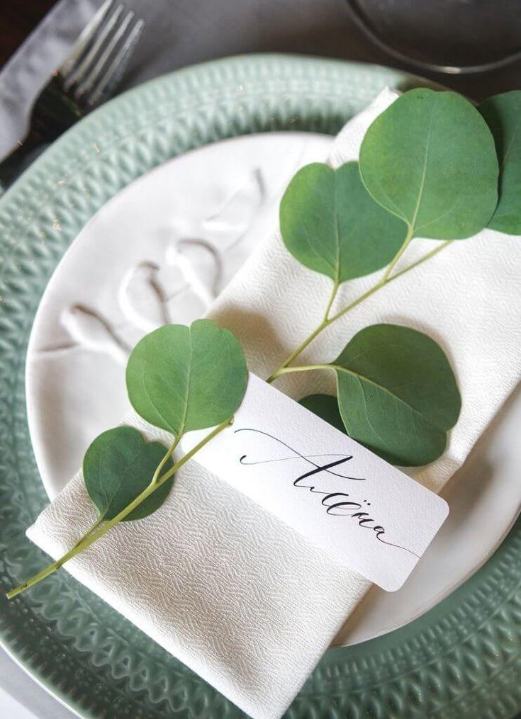 30 einfache Ideen für DIY-Tischkarten