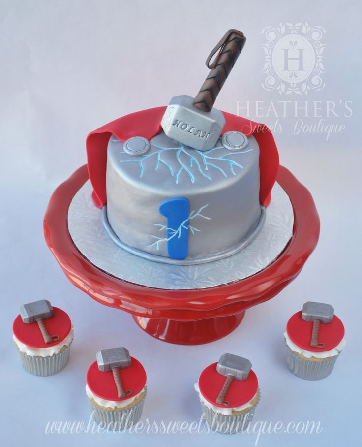 Thor Cake ~ Heather's Sweets Boutique ~ www.heatherssweetsboutique.com ~ www.facebook.com/HSBcakes