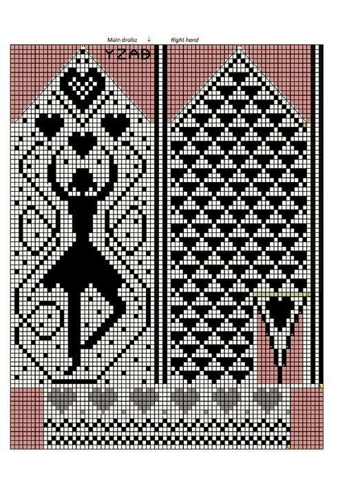 Mitten pattern with dancer