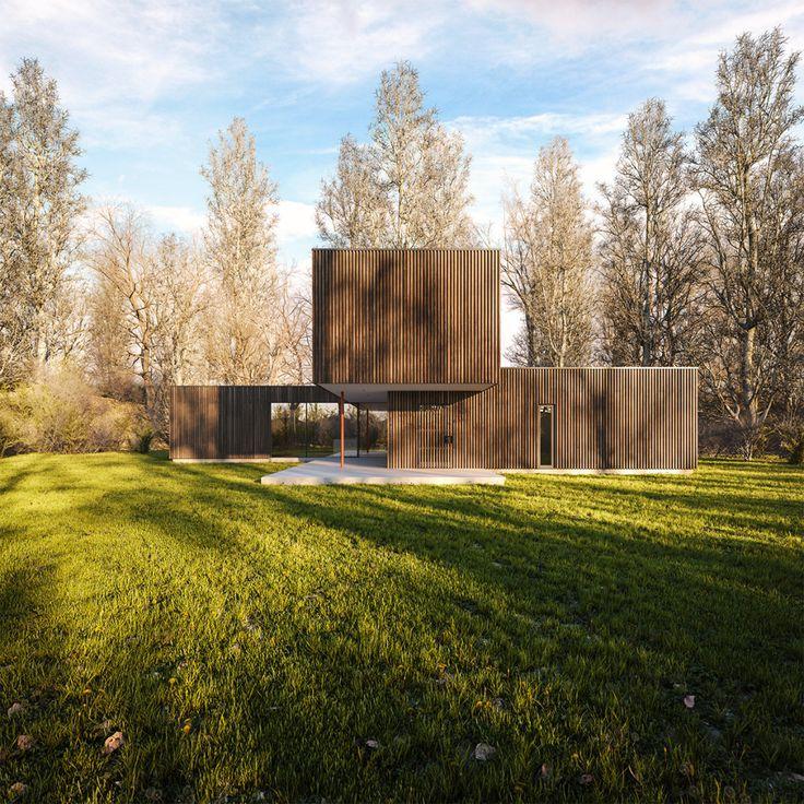 Best of Week 09/2016 - Black Timber House by SOA - Ronen Bekerman - 3D Architectural Visualization & Rendering Blog