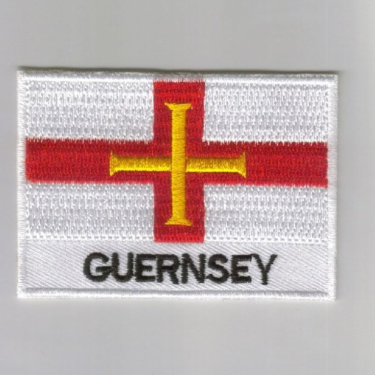 Guernsey flag embroidered patches