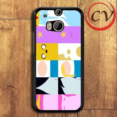 Adventure Time Characters HTC One M8 Mini Black Case