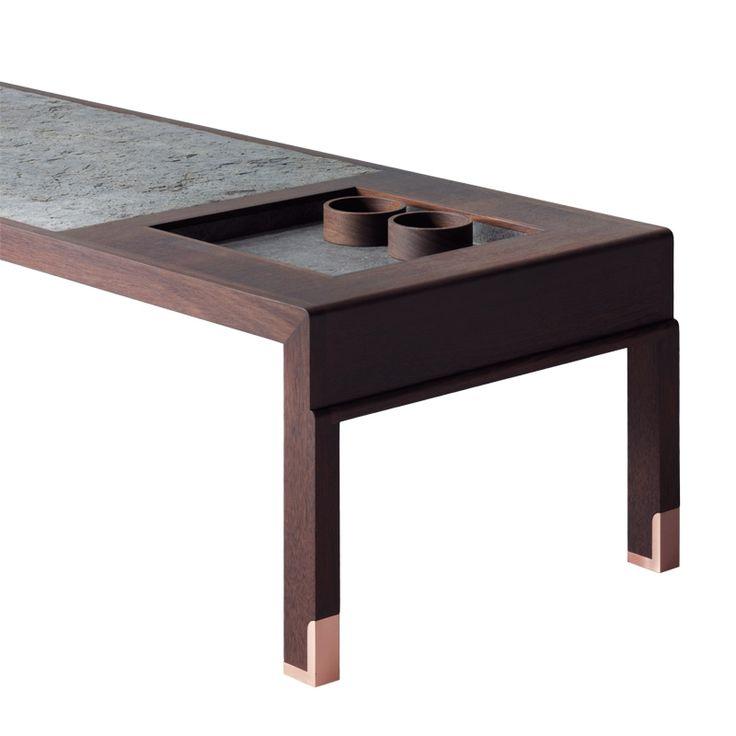 GAIA low table with recessed tray Furniture vendor in china email:derek@wonderwo.com. Web:www.wonderwo.cc