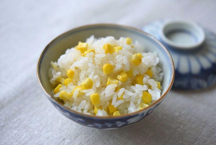 とうもろこしご飯(炊き込みご飯)のレシピ/作り方:白ごはん.com