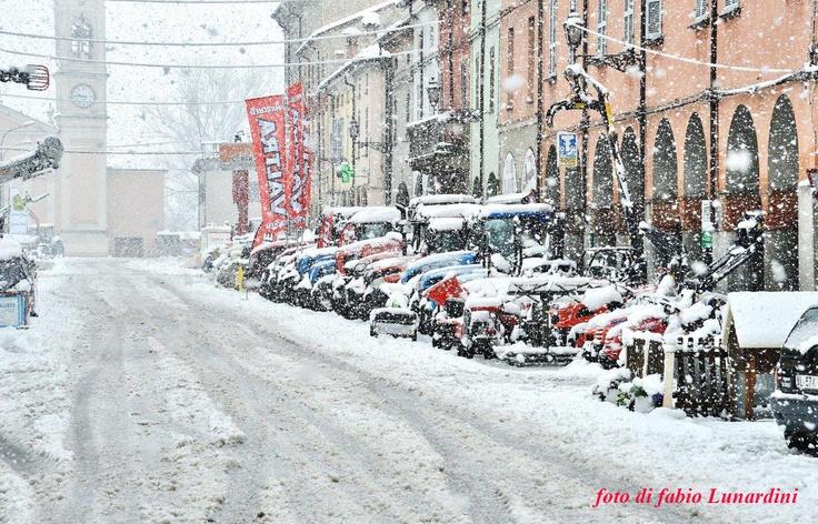 Cortemaggiore: Fiera di San Giuseppe 2013... sotto la neve - Foto Fabio Lunardini