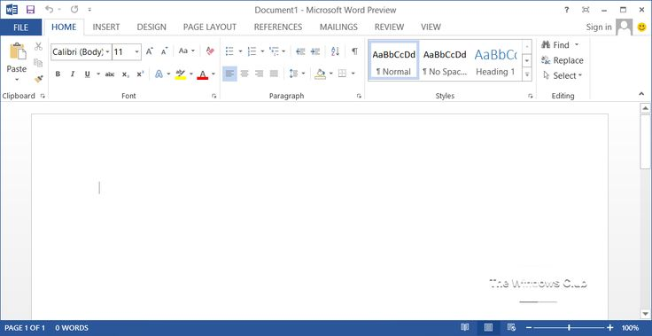 Microsoft Word 2013 Screenshots