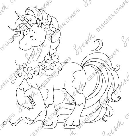 Proud Unicorn Digital Stamp