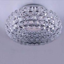 Plafoniera moderna Mirage, o copie fidela a plafonierei Caboche, Brand Foscarini. Mirage are rama din metal, avand elemente decorative, bule din sticla. Diam 48cm H 20cm, Brand MAX LIGHT