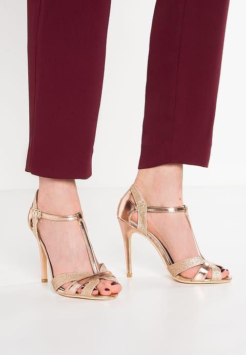 Glamorous Sandales - gold glitter - ZALANDO.FR