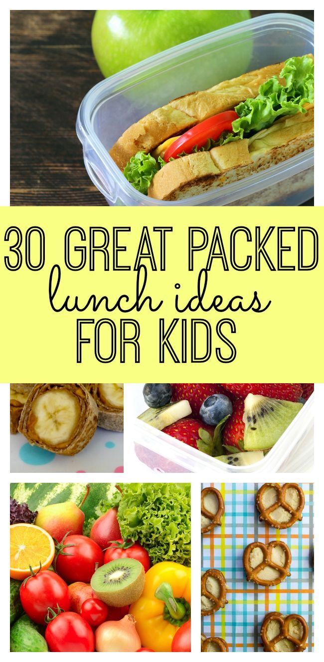 30 Great Packed Lunch Ideas for Kids! A perfect list for the start of the school year! Your kids will love these lunches.