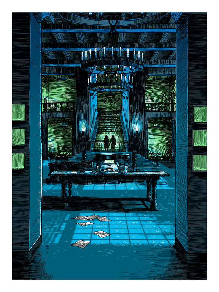 """Tim Doyle """"Death of the Author"""" 18"""" x 24"""" 5 Color Screen Print Edition of 150"""