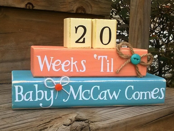 Pregnancy Countdown + Baby Count Up Blocks