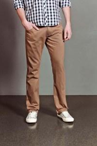 Skinny Pants With Stitch Detail Khaki:
