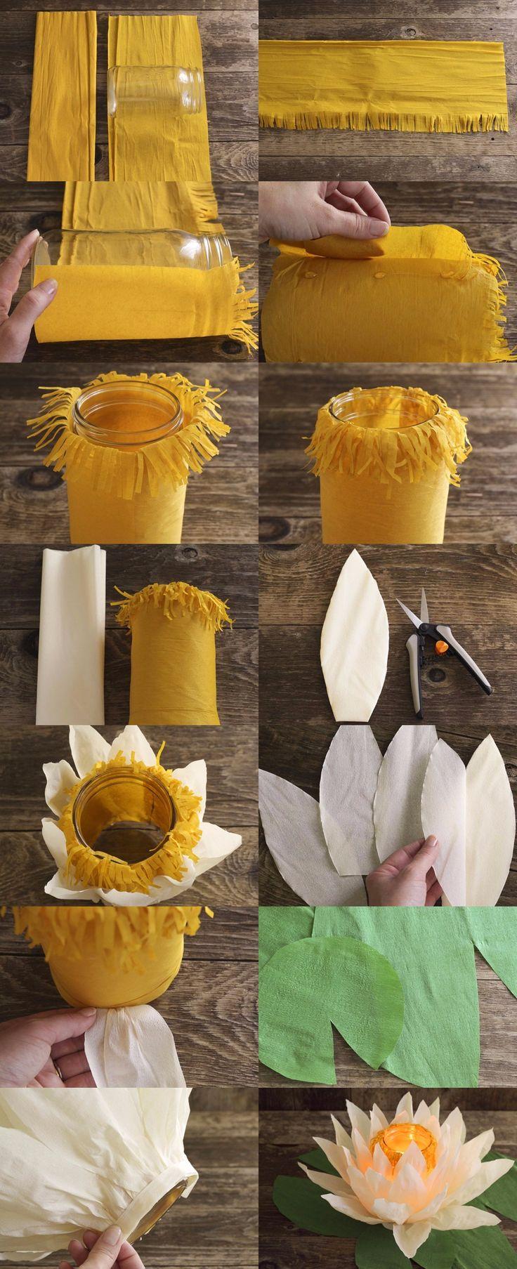 Lamparitas florales DIY / http://www.100layercake.com