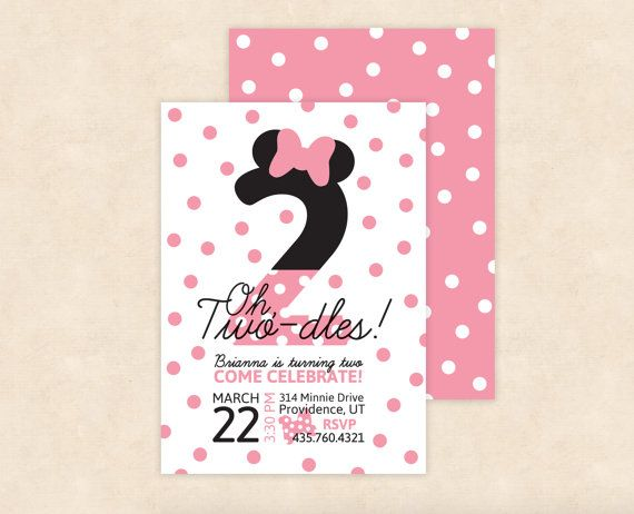Minnie Mouse Twodles Birthday Invitation by LovelyLettersDesign