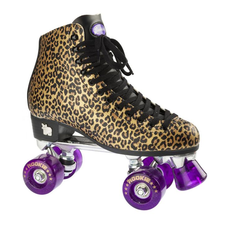 Rookie Classic Adult Roller Skates - Gold Leopard | Free UK Delivery