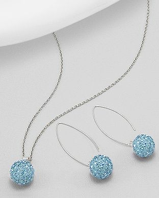 silver vogue - Mesmerising crystals earrings and pendant set, $29.99 (http://www.silvervogue.com.au/mesmerising-crystals-earrings-and-pendant-set/)