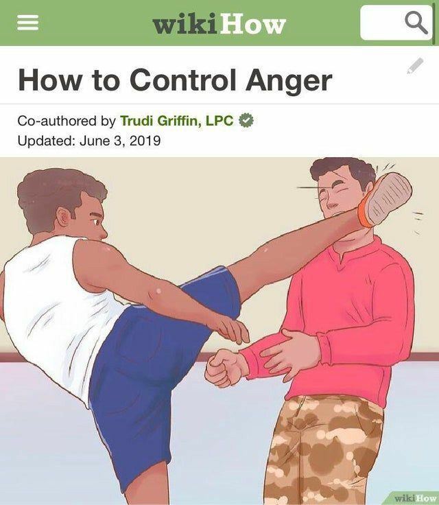 Controlling Anger Funny Wikihow Post In 2021 Funny Memes Funny Relatable Memes Memes