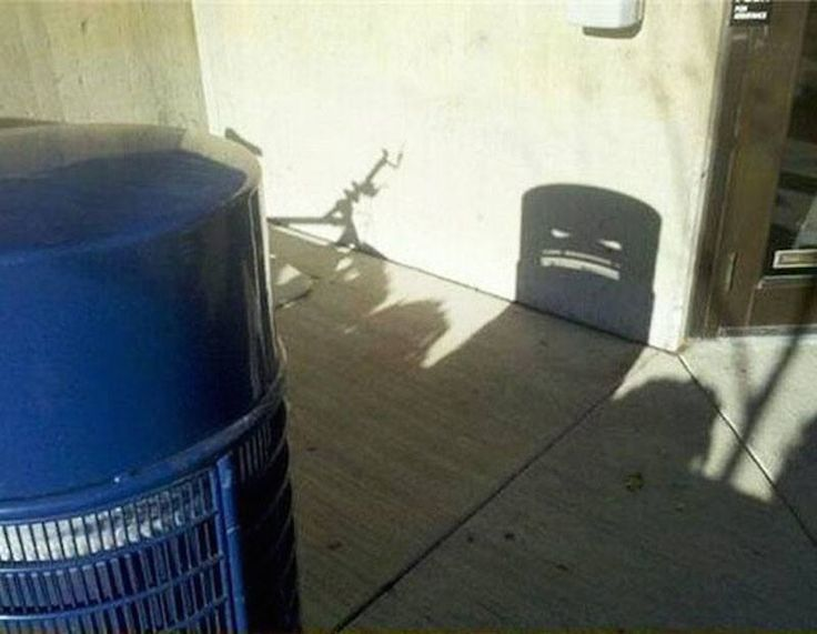 Monster Trashcan Shadow. The 12 Most Awesome Shadow Illusions Ever Captured – BoredBug