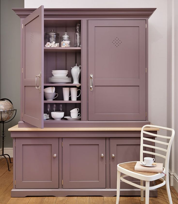 Free standing painted kitchen dressers  kitchen larders
