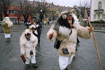 "The Busójárás (Hungarian, meaning ""Busó-walking"")"
