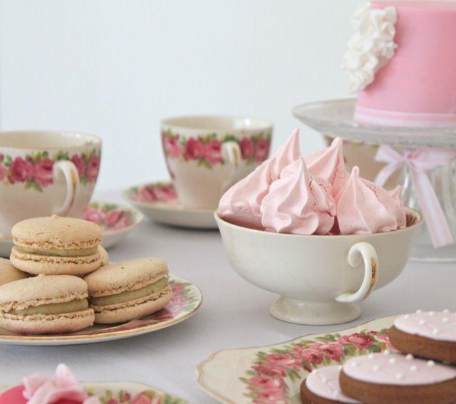 pink meringues!