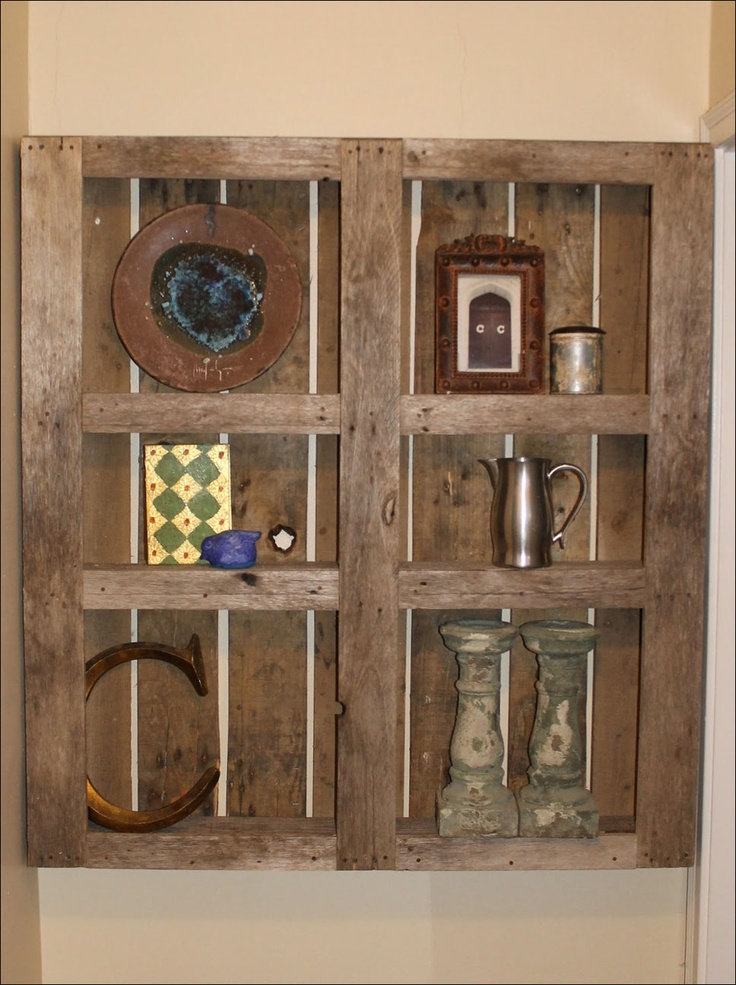 Wall Hung Knick Knack Shelf Made From An Old Shipping