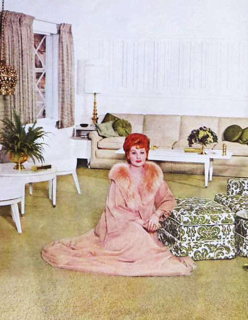 I LOVE Lucy (and I did!!)  Here's the queen of comedy herself.  Lucy at home, 1960's  Classy, funny lady.