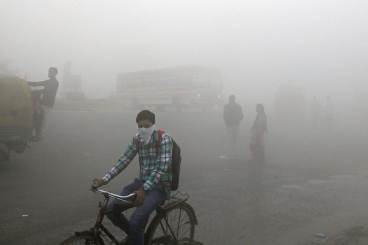 United Airlines Suspends Flights to New Delhi Because of Toxic Smog  Indian commuters wait for transport amid thick blanket of smog on the outskirts of New Delhi India November 10 2017. As air pollution peaked this week in Delhi it rose to more than 30 times the World Health Organizations recommended safe level. aused by pollution. Altaf Qadri / Associated Press  Skift Take: The air quality in New Delhi isn't acceptable for United employees passengers or Indians. United doesn't want any part…