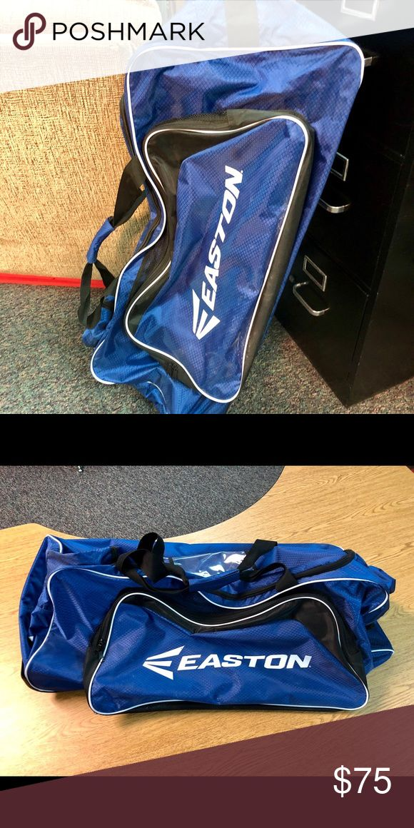 Large Easton hockey bag! This large Easton hockey bag is like new! Used for just a couple weeks because my son ended up not playing anymore because of basketball being at the same time :( Has wheels, and lots of pockets! Great shape! Easton Accessories