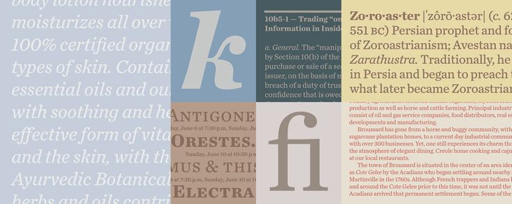 Chronicle Text Fonts | Hoefler & Co.