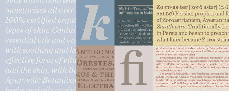 Chronicle Text Fonts | Hoefler & Co.