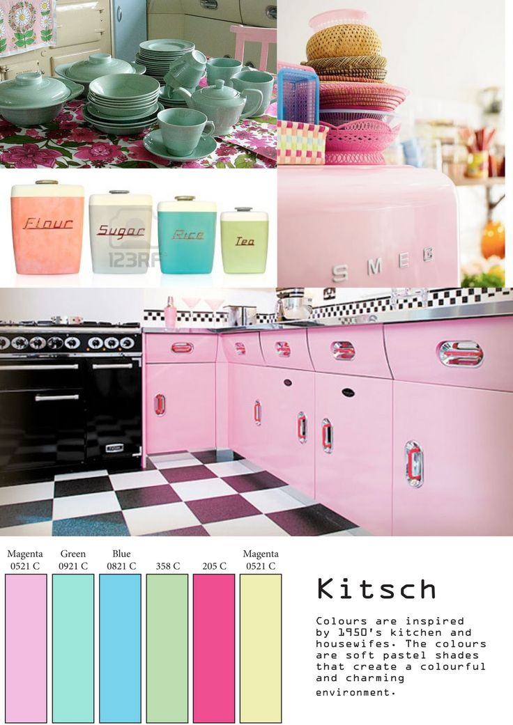 Kitsch: Kitsch 1950's Kitchen Mood Board